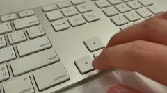 4k close-up press on arrow keys. Stock Footage