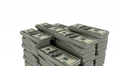 Increasing money (Loop able, Alpha) - stock footage