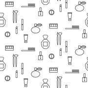 Makeup objects and products seamless pattern Stock Illustration