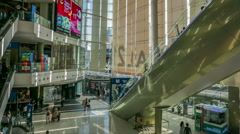 People are walking in Terminal 21 Shopping Mall Bangkok. Stock Footage