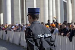 A policeman gendarmerie - stock photo