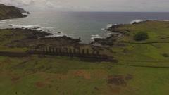 Ahu Tongariki, Easter Island, Chile - stock footage