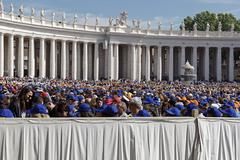Crowd in St. Peter's Square on the occasion of the jubilee. Stock Photos