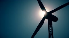 energy revolution with a wind engine and the sun - stock footage