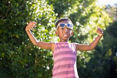 Boy wearing sunglasses Stock Photos