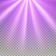 Purple flare rays - stock illustration