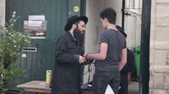 People In Jewish Quarter Le Marais In Paris, France - stock footage