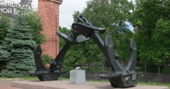 Kronstadt.  Anchor in the old dock. Stock Footage