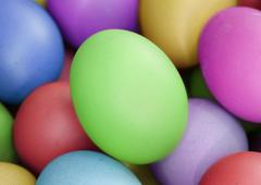 multi color eggs, for easter holiday - stock photo