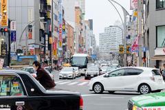 Area in the Ueno Hirokoji intersection Stock Photos