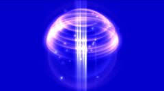 4k Abstract light signal ball,annulus energy rays,tech science space background - stock footage
