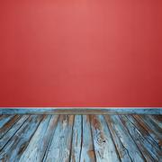Room interior with concrete wall and wood floor Stock Photos