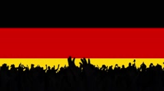German flag background with people Stock Footage
