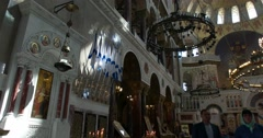 Naval Cathedral in Kronstadt. The Inside Of The Cathedral. Stock Footage
