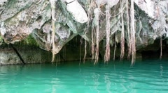 Underground River in Sabang . Wonder of the World . Philippines. Stock Footage