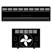 Wall-mounted Air Conditioner Icon. Piirros