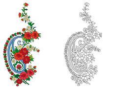 Indian textile motif Stock Illustration