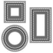 Vintage Frames Isolated Stock Illustration