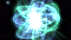 4k tech science energy radiation rays ripples star explosion,particle fireworks Stock Footage