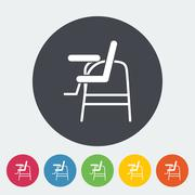 Chair for baby - stock illustration