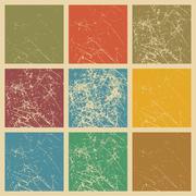 Set of vector scratched vintage grunge background. - stock illustration