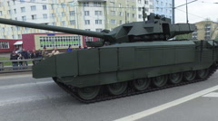 Russian modern military equipment is the city of Moscow. Stock Footage