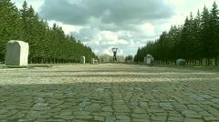 War Memorial World War II in the park Stock Footage