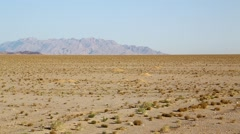 In iran desert and mountin Stock Footage