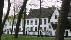 Princely Beguinage Ten Wijngaerde in Bruges, Flanders, Belgium - stock footage