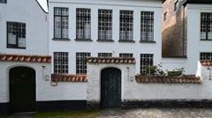 Princely Beguinage Ten Wijngaerde in Bruges, Flanders, Belgium Stock Footage