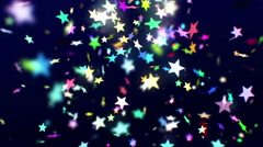 Colorful confetti falling down - stock footage