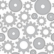 Vector seamless background in tech style with gray gears Stock Illustration