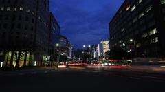 Traffic Time Lapse - Fukuoka main street, Japan Stock Footage