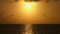 Beautiful sunset in sea, amazing colors. Maldives. Stock Footage