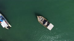 Top view of boats in Praia do Forte, Bahia, Brazil Stock Footage