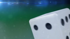 White dice rolling in motion - stock footage