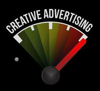 Creative advertising meter sign illustration Stock Illustration