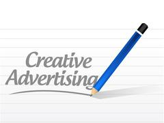 Creative advertising message sign Stock Illustration