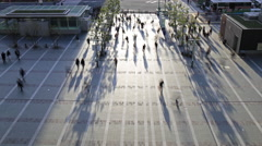Time Lapse of crowd passing at station square. Stock Footage