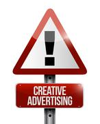 Creative advertising warning sign Stock Illustration