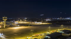Istanbul Ataturk Airport Landing Airplanes Hyperlapse Stock Footage