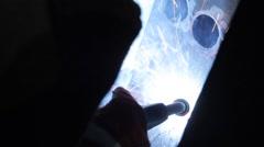 Welding metall - stock footage
