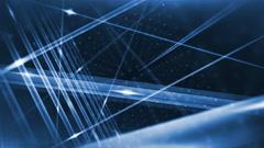 Optical fibers animation Stock Footage
