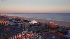 Aerial NYC Coney Island Fun Park Arkistovideo