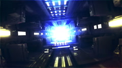 3D futuristic tunnel that could be one on a space ship. - stock footage