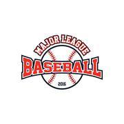 baseball league theme - stock illustration
