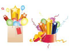 Celebration Gifts - stock illustration