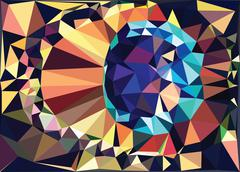Colorful Geometric Abstraction - stock illustration