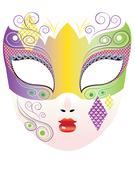 Decorative Carnival Mask - stock illustration