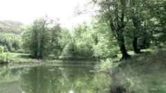 Lake on the mountain STOL Stock Footage